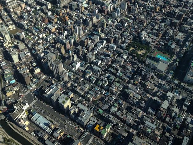 Gedeeltelijk uitzicht op de stad tokio
