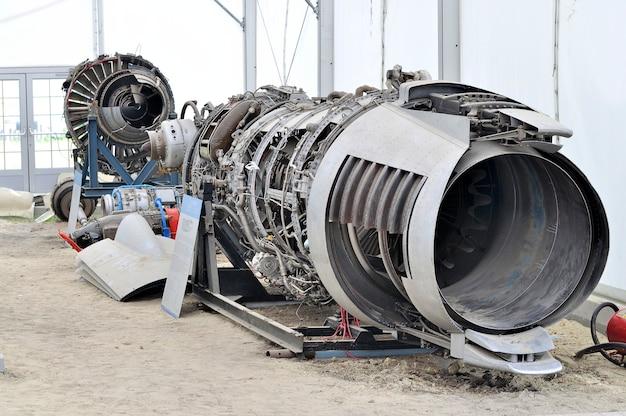 Gedemonteerd straalvliegtuig