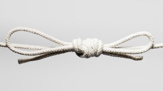 Gedraaid katoenen touw met knoop