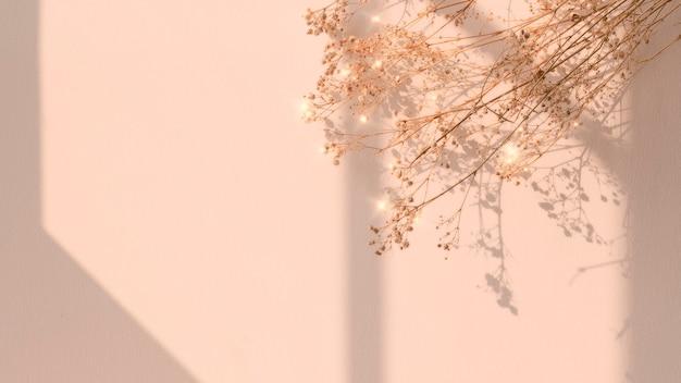 Gedroogde bloem venster schaduw bloemen afbeelding