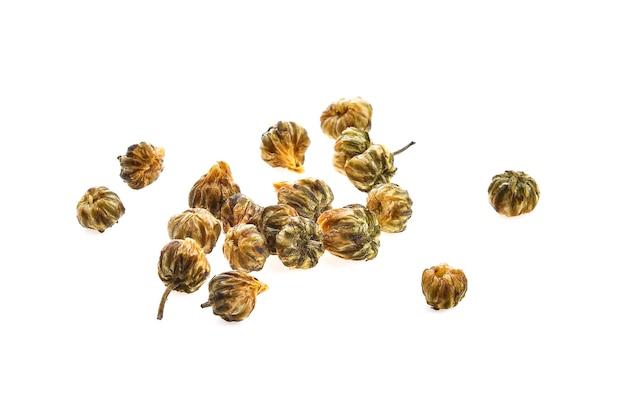 Gedroogde chrysantenbloem geïsoleerd