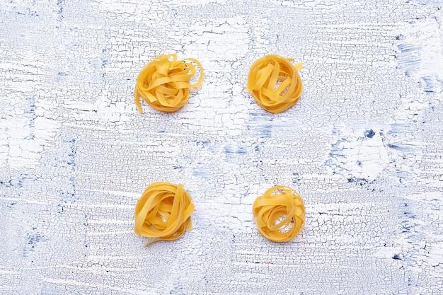 Gedroogde pasta bovenaanzicht