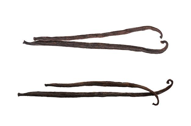 Gedroogde peulen geïsoleerd op een witte achtergrond met uitknippad.top uitzicht, plat lag