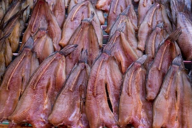 Gedroogde snakehead vis