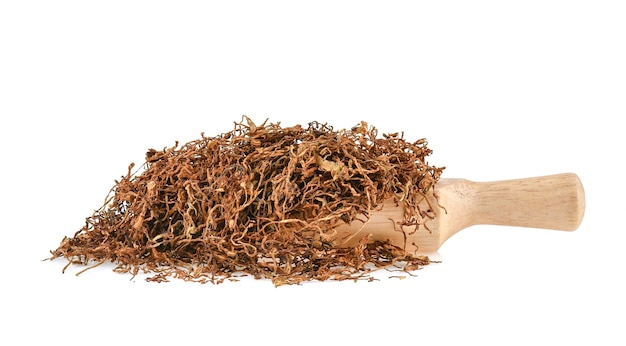 Gedroogde tabak geïsoleerd