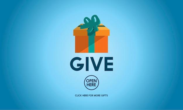 Geef doneer vrijgevigheid het geven van ondersteuning help concept