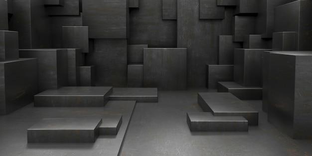 Geef van 3d geometrische abstracte kubusbehangachtergrond terug