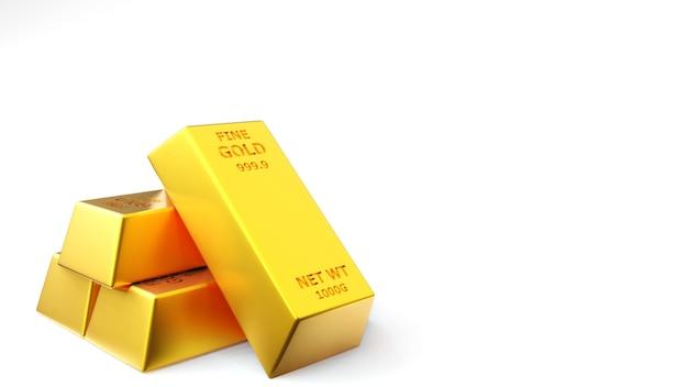 Geef van gouden baksteengoudstaaf terug