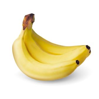 Geel banaanfruit dat op wit wordt geïsoleerd