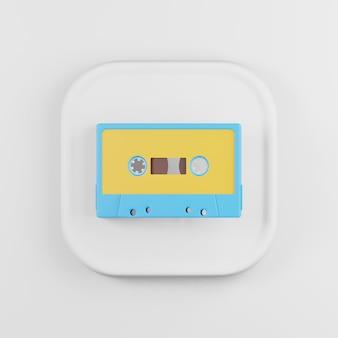 Geel-blauw cassette icoon