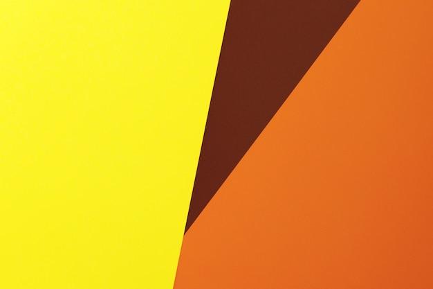 Geel, bruin en oranje. herfst kleuren