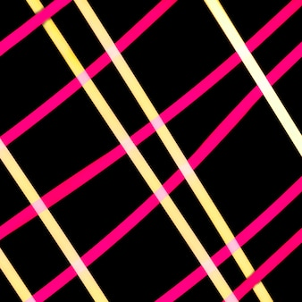 Geel en roze licht raster op zwarte achtergrond