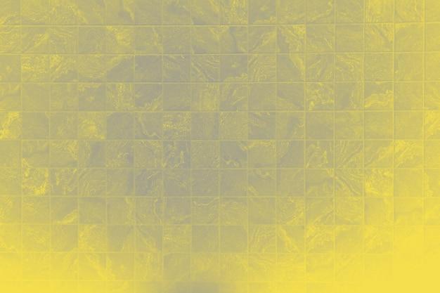 Geel gekleurde textuur blauwe zwembad flor verlicht. bovenaanzicht