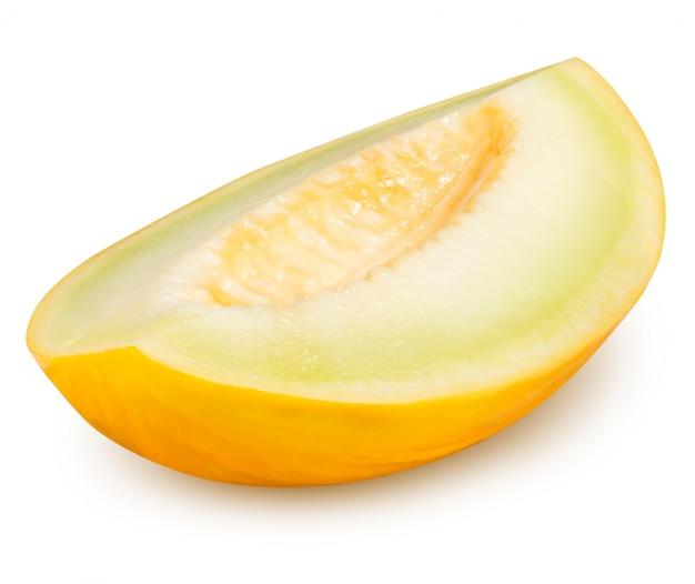 Geel gesneden meloen geïsoleerd