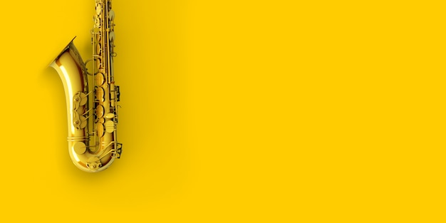 Geel goud saxofoon