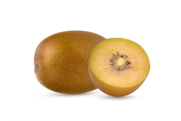 Geel kiwifruit op witte achtergrond