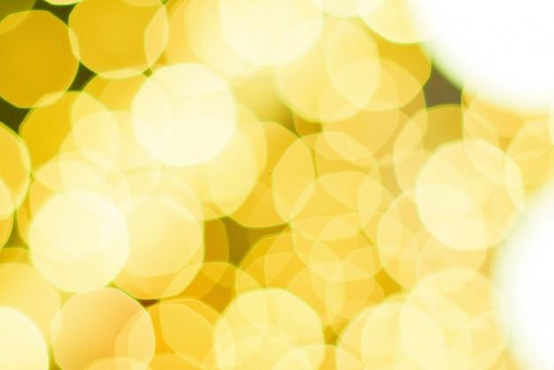 Geel licht bokeh van viering, kerstmis lichte bokeh