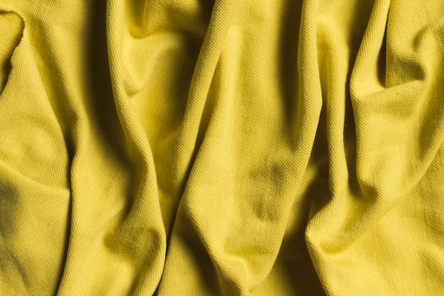 Geel ornament binnenshuis decor stof materiaal