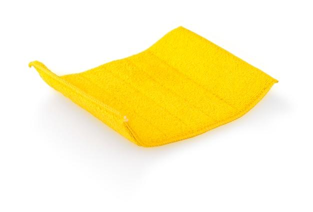 Geel schoonmaakdoekje geïsoleerd