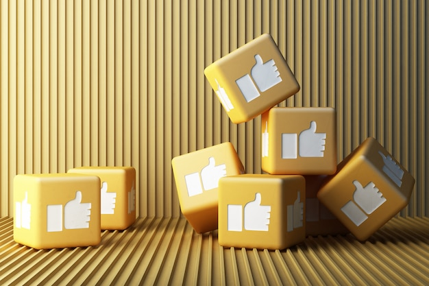 Geel zoals pictogram 3d doos het 3d teruggeven