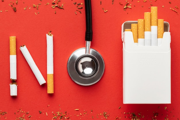 Geen arrangement van tabaksdagelementen