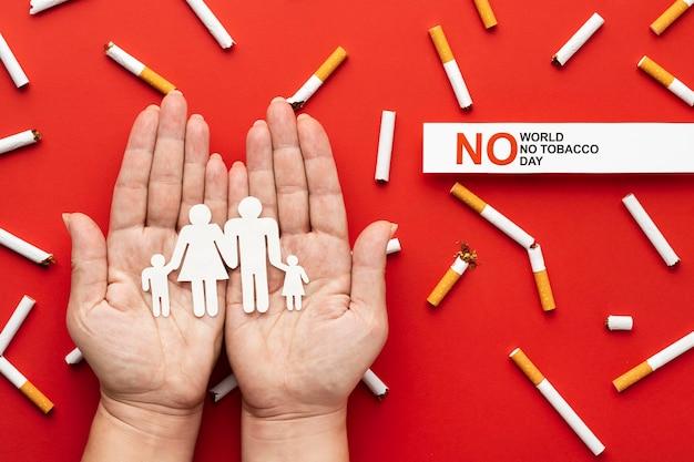 Geen assortiment tabaksdagelementen