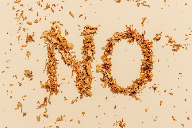 Geen bericht voor rookgewoonte