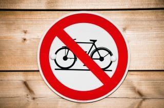 Geen fiets teken