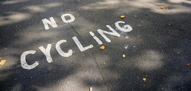 Geen fietsen fiets park veilig pad forbidben