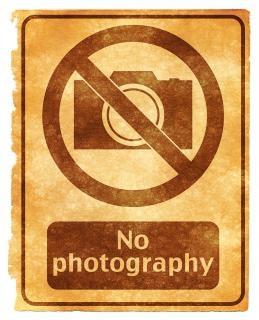 Geen fotografie grunge teken