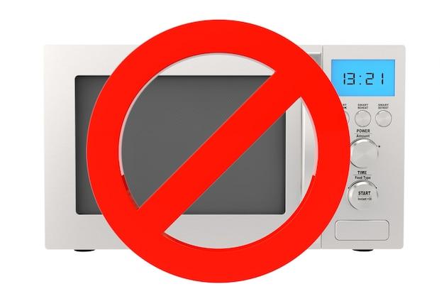 Geen magnetron oven pictogram op een witte achtergrond