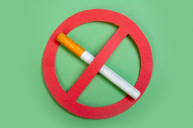 Geen sigaretten gezond leven. niet roken.