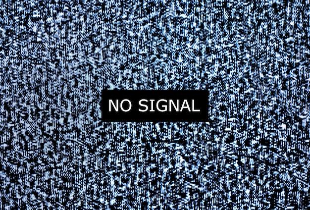 Geen signaal om te monitoren, statische ruis slecht tv-signaal zwart-wit