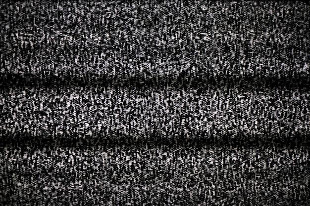Geen signaal op televisiemonitor, statische ruis slechte tv zwart-wit