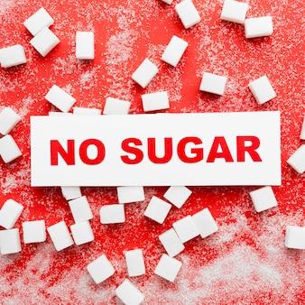 Geen suikerbericht op het bureau