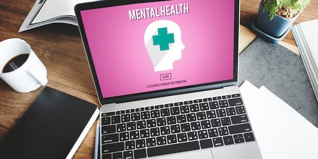 Geestelijke gezondheid psychologische stressbeheersing emotioneel concept