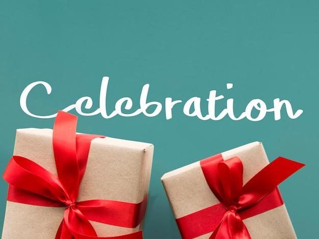 Gefeliciteerd viering verrassing speciaal cadeau