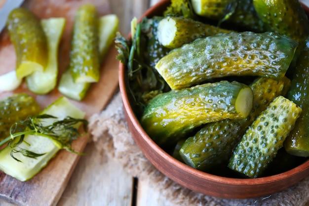 Gefermenteerde komkommers probiotica
