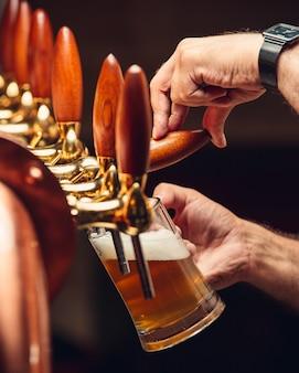 Gefilterd bier van de tap