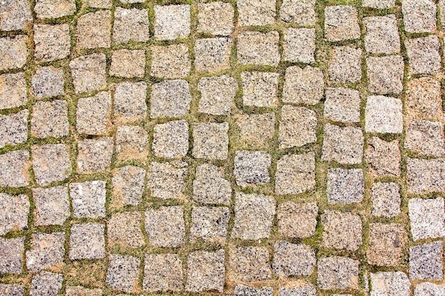 Gefotografeerd van dichtbij een deel van het gebouw van stenen bakstenen