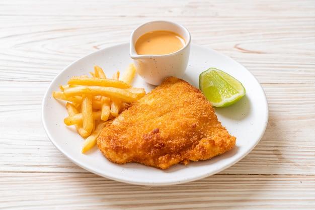 Gefrituurde fish and chips