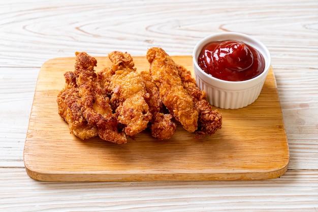 Gefrituurde kippenstick