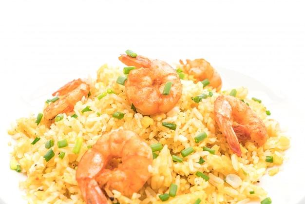 Gefrituurde rijst met garnalen