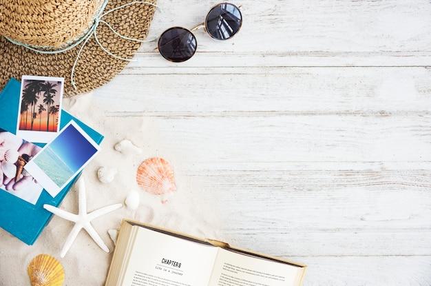 Gegaan naar het strand zomer vakantie vakantie starfish concept
