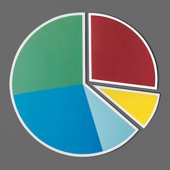Gegevens analyse cirkeldiagram pictogram
