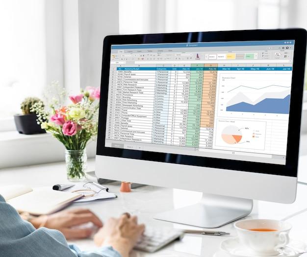 Gegevens informatie rapport statistieken strategie concept