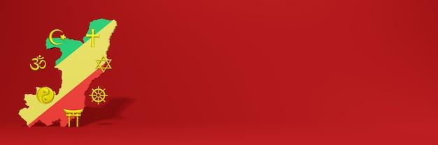 Gegevens over de verspreiding van religie en diversiteit van pluralisme in republiek congo voor websiteomslag