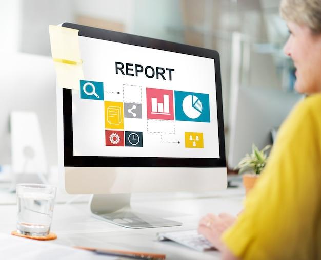 Gegevensanalyse analytics informatie rapportconcept
