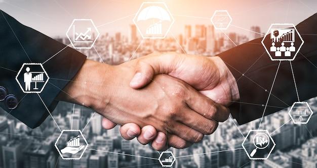 Gegevensanalyse voor bedrijfs- en financieel concept. computertechnologie winstanalyse, online markt.