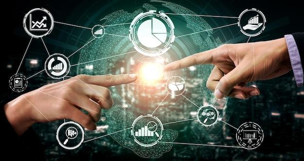 Gegevensanalyse voor bedrijfs- en financieel concept